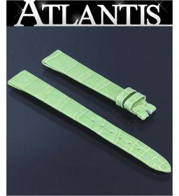未使用 パテック・フィリップ 純正 替えベルト クロコ ライトグリーン ラグ幅12mm 腕時計