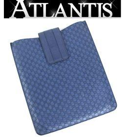 SALE グッチ タブレット iPadケース グッチシマ 青 ブルー