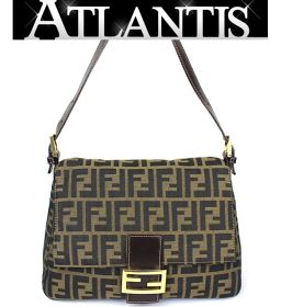 Fendi shoulder bag Mumma bucket Zucca pattern Brown type