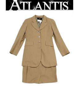 美品 フェンディ レディース ジャケット スカート セットアップ ベージュ size36 約7号