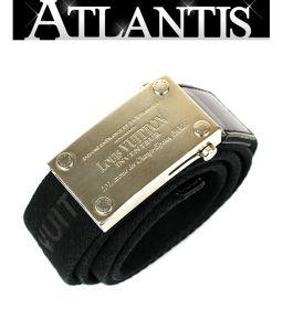 ルイヴィトン LOUIS VUITTON サンチュール ベンガル 黒 SV金具 size90 M9801