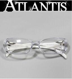 新品 フェンディ FENDI メガネフレーム 眼鏡 伊達眼鏡 F847 白系