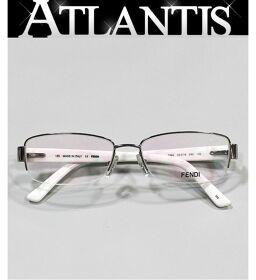 新品 フェンディ FENDI メガネ フレーム 眼鏡 伊達眼鏡 F963 白系