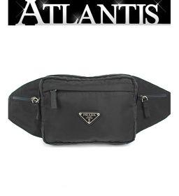 Beautiful goods Prada PRADA waist pouch waist bag nylon bag black