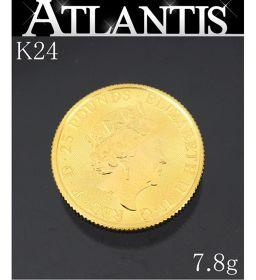 美品 エリザベス コイン ユニコーン 金貨 K24 1/4oz 7.8g 地金