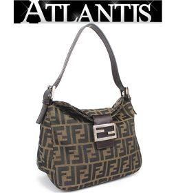 Fendi mamma bucket one shoulder bag handbag zucca pattern brown