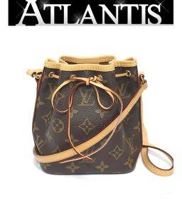 Beautiful goods louis vuitton LOUIS VUITTON nanonoe drawstring oblique hanging shoulder bag M41346
