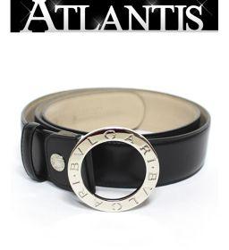 美品 ブルガリ BVLGARI BBベルト メンズ ベルト レザー 黒 size110 調整可