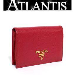 プラダ PRADA カードケース 名刺入れ レザー ピンク 1M0945