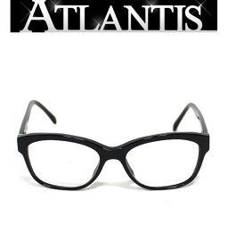 シャネル CHANEL サイドカメリア メガネフレーム 眼鏡 度入り 黒