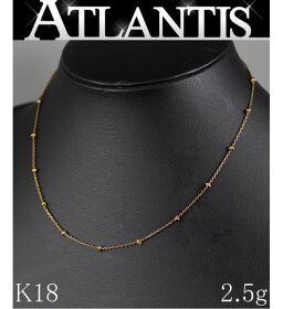 美品 K18 ネックレス YG イエローゴールド 約39cm 2.5g 地金