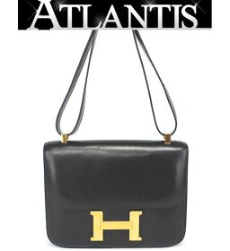 Hermes HERMES Constance 23 Shoulder Bag Box Black G Metal Fittings ○ J Engraved