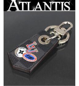 Louis Vuitton LV Keyring Unshappe Keychain Bag Charm Damier Graffit SV Hardware