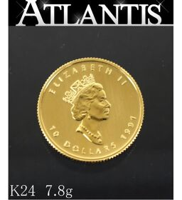 Unused Elizabeth II $ 10 Gold Coin 1991 Maple Leaf 1 / 4oz K24 7.81g Bullion