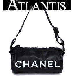 Rare Chanel CHANEL Cylindrical Mini One Shoulder Bag Handbag Chanel Sport Rubber Black