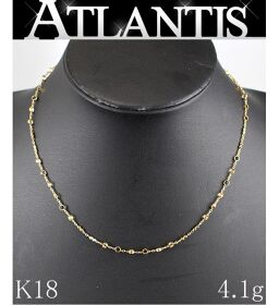 Good Condition K18 Design Necklace YG Yellow Gold 4.1g Bullion