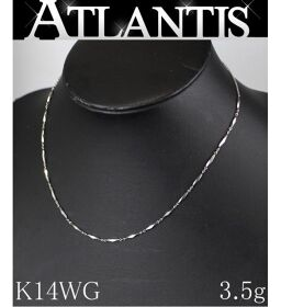Good Condition K14WG Design Necklace White Gold 3.5g Bullion