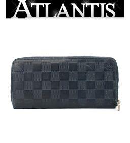 Louis Vuitton LV Zippy Wallet Vertical Wallet Damier Amphini Blue N63549