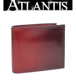 Extreme beauty product YUHAKU Bi-fold wallet Gradation leather Wine red system