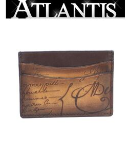 Extreme beauty Berluti card case calligraphy brown brown