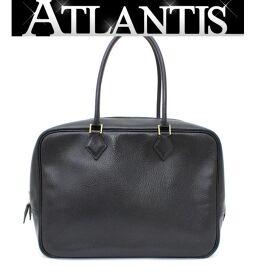 Hermes HERMES Plum 35 Handbag Rare Ardenne Black 〇 X engraved