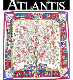 """Hermes HERMES Carre 90 Large Format Scarf """"Fantaisies indiennes Dazzling India"""" Silk"""