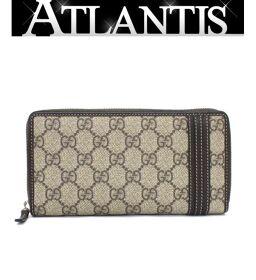 Gucci GUCCI Round Zipper Wallet GG Supreme Brown 308009