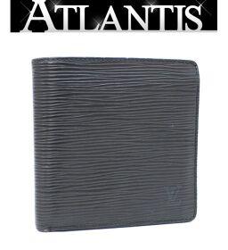 ルイヴィトン LOUIS VUITTON ポルトフォイユ マルコ 二つ折り 財布 エピ 黒 M63652
