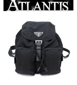 Prada PRADA rucksack backpack double pocket nylon black
