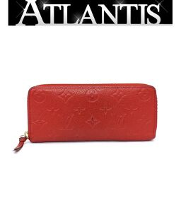 Louis Vuitton LV Long Wallet Portofeuil Clemence Amplant Threes Red M60169