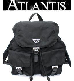 Prada PRADA rucksack backpack nylon x leather double pocket black B2811
