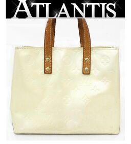Louis Vuitton LV Reed PM Handbag Mini Tote Bag Monogram Verni Perle M91336