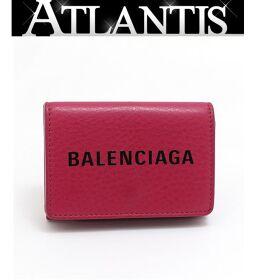 <html>    <body>   バレンシアガ BALENCIAGA 三つ折りコンパクト財布 ミニウォレット ピンク系        </body> </html>