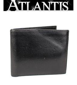 銀座 エルメス 二つ折り札入れ 財布 ボックスカーフ 黒 I刻印