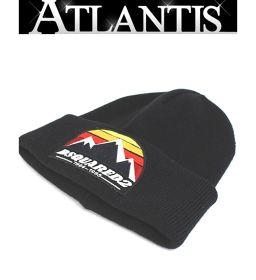 銀座店 SALE DSQUARED2 ウール ニットキャップ 帽子 ワッペン 黒 ブラック OneSize