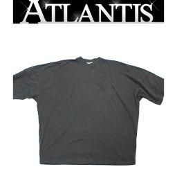 銀座店 未使用 バレンシアガ 2018S/S 刺繍ロゴ入り オーバーサイズ Tシャツ XSサイズ 黒