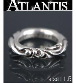 銀座店 クロムハーツ スクロールバンド リング 指輪 SV925 約11.5号