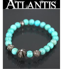 Ginza store Chrome Hearts beads bracelet bracelet turquoise blue silver SV925 with invoice
