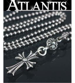 Ginza store Chrome Hearts 1 ball Tiny cross ball chain necklace silver SV925 with invoice