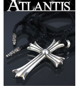 Ginza store Chrome Hearts Large Cross With Bail Necklace Leather Blade