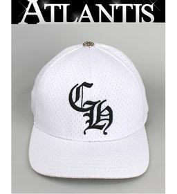 銀座店 クロムハーツ トラッカーキャップ メッシュ CH刺繍 帽子 白