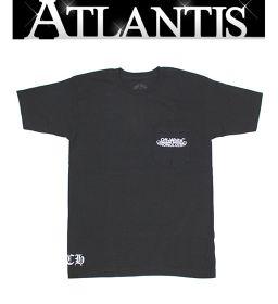 銀座店 クロムハーツ 未使用品 ホノルル限定メンズ オフホワイトTシャツ カットソー 黒 sizeS