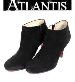 銀座店 クリスチャンルブタン ショートブーツ  靴 ブーティ スエード size37 黒