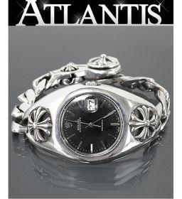 銀座店 激レア クロムハーツ ロレックス 初期型 ウォッチケース オールド オイスター 黒文字盤   腕時計