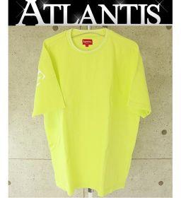 銀座店 シュプリーム 19SS Stripe Rib Waffle Top Pale Lime 黄緑 TシャツL