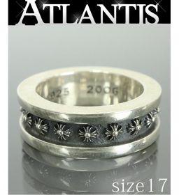 銀座店 クロムハーツ ミニ CHプラス リング 指輪 シルバー SV925 約17号
