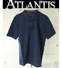 銀座店 未使用品 プラダ ポロシャツ トップス ネイビー メンズ size:M