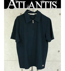Ginza store Moncler half zip shirt polo shirt tops navy size: M