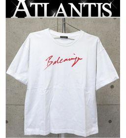 Ginza store Balenciaga 2019AW Lipstick logo T-shirt White size: M