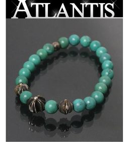 Ginza store chrome hearts with invoice bead breath 8mm turquoise × silver CH plus SV925